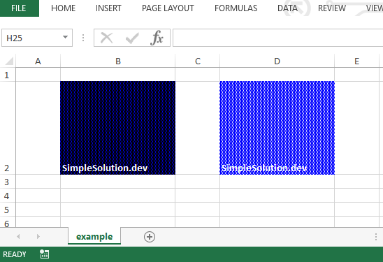 Excel output file for background and foreground color with FillPatternType.ALT_BARS fill pattern