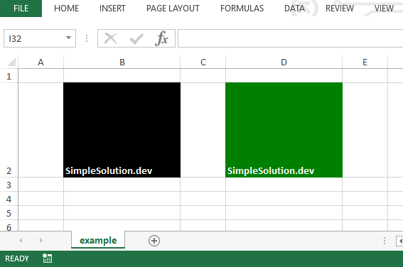 Excel output file for background and foreground color with FillPatternType.SOLID_FOREGROUND fill pattern