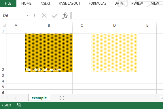 Excel output file for background and foreground color with FillPatternType.SPARSE_DOTS fill pattern