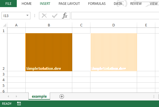 Excel output file for background and foreground color with FillPatternType.THIN_VERT_BANDS fill pattern