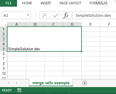 Apache POI Merging Excel Cells