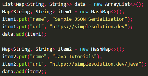 Serializes Java object into JSON string using Gson.toJson() with Gson
