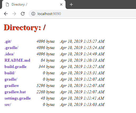 Creating File Server with Embedded Jetty Server in Java