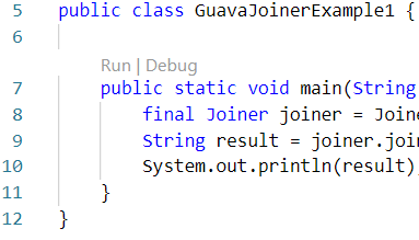 Google Guava in Java to join String with Joiner