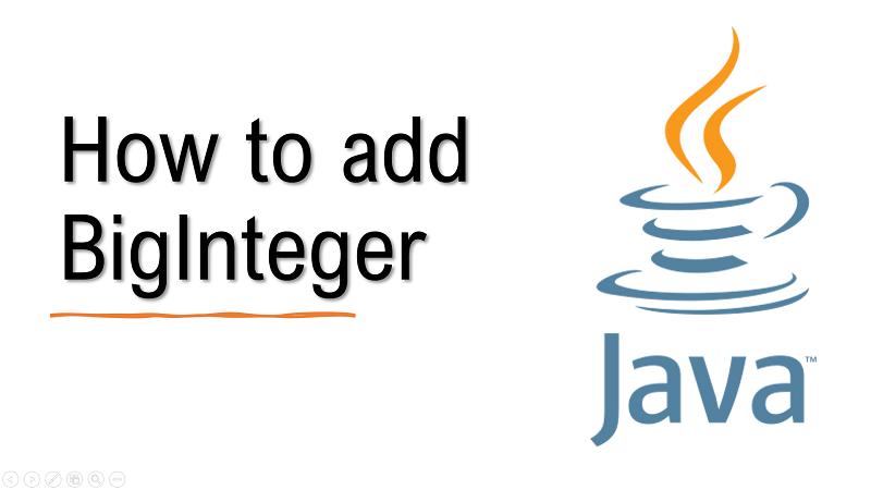 Java add BigInteger