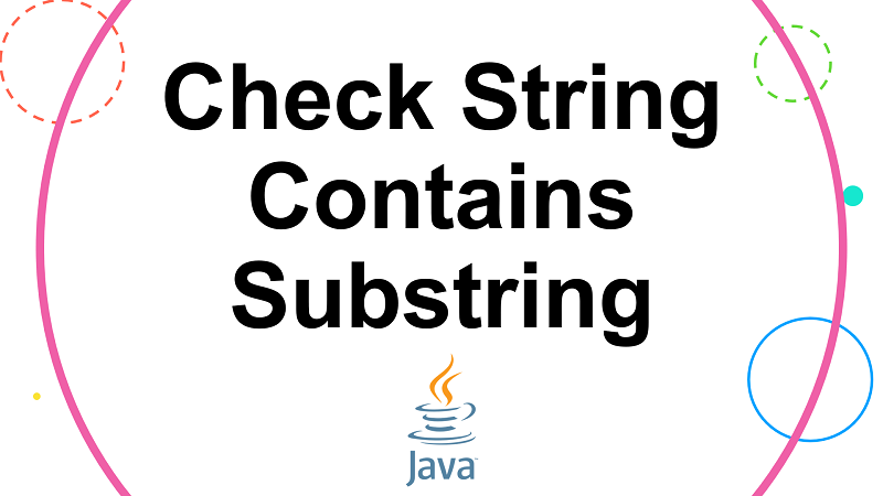 Check if a String contains another String in Java
