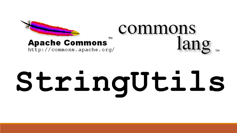 Java check String is empty or blank or contains text using StringUtils Apache Commons Lang