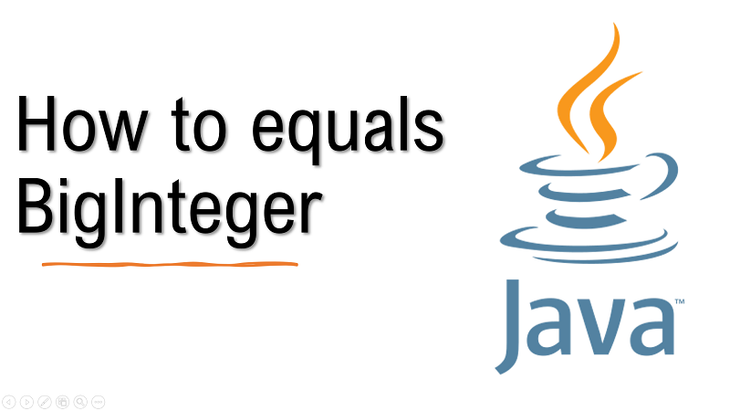 Java Compare BigInteger values for equality