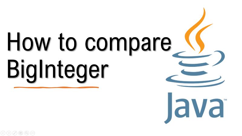Java compare BigInteger values