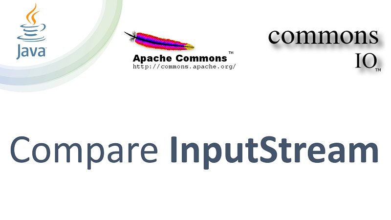 Compare Contents of two InputStream in Java using Apache Commons IO