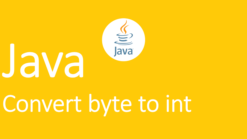 Convert byte to int in Java