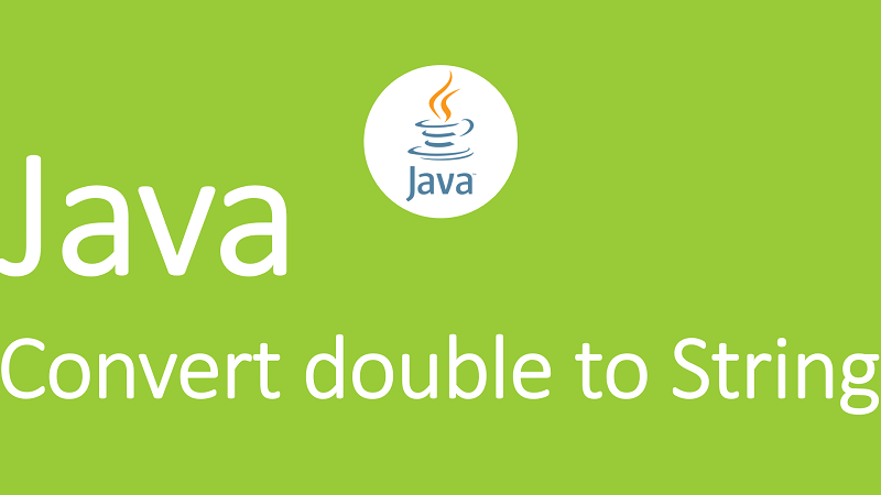 Convert double to String in Java