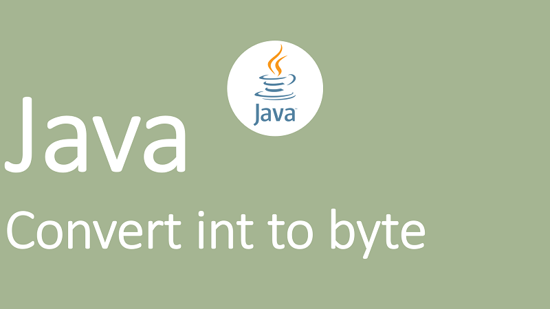 Convert int to byte in Java