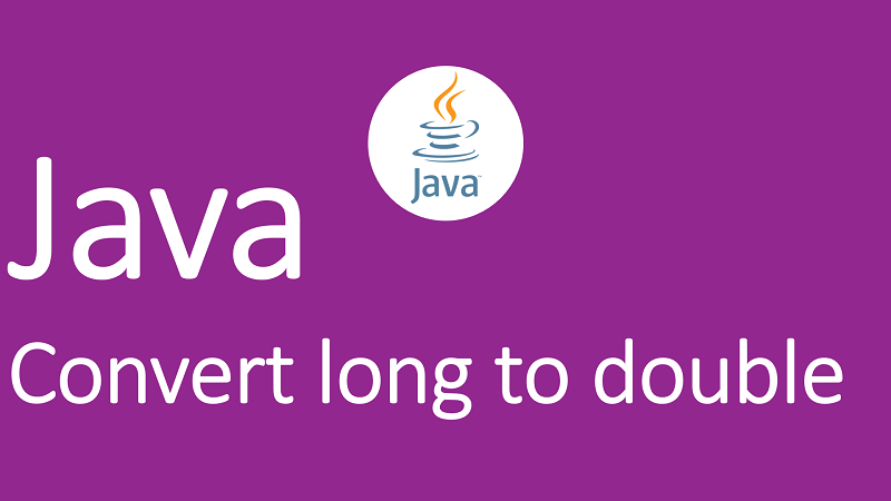 Convert long to double in Java