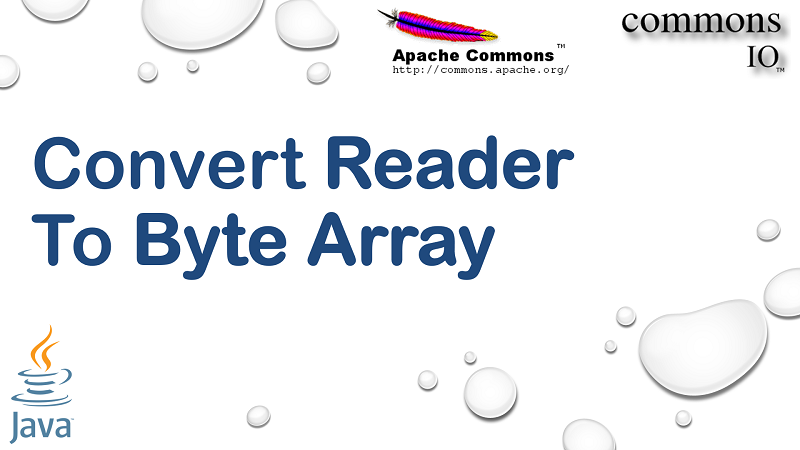 Convert Reader to Byte Array in Java using Apache Commons IO
