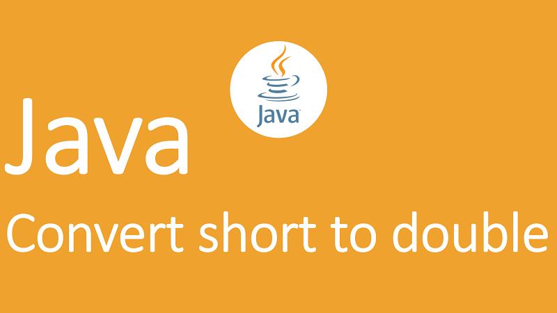 Convert short to double in Java