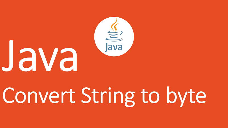 Convert String to byte in Java