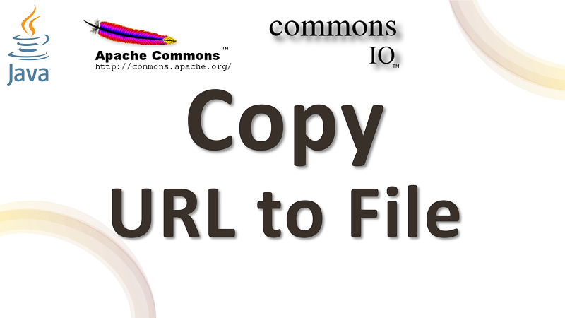 Copy Content from URL to File in Java using Apache Commons IO