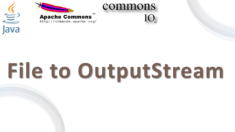 Copy File to OutputStream in Java using Apache Commons IO