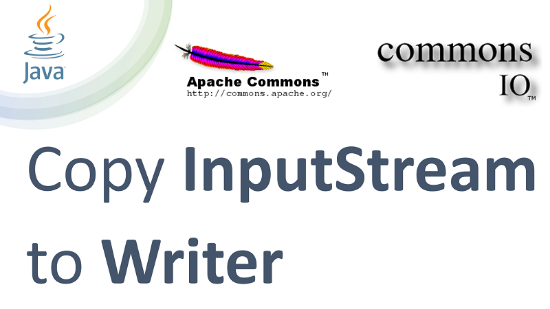 Copy InputStream to Writer in Java using Apache Commons IO