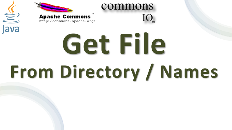 Java Create File from Directory and Name Elements using Apache Commons IO