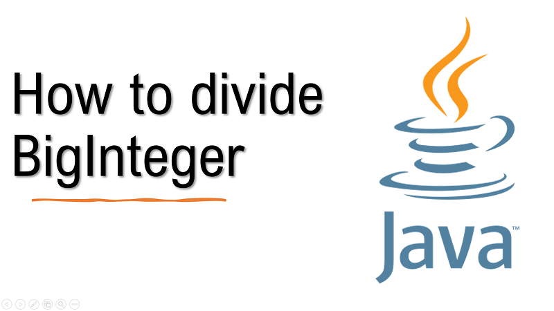 Java divide BigInteger
