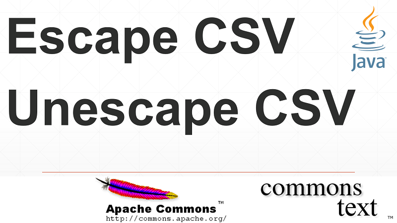 Escape or Unescape String for CSV column data in Java using Apache Commons Text