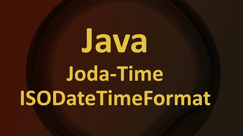 Format Joda-Time DateTime String using ISODateTimeFormat in Java