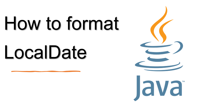 Java format LocalDate value to String