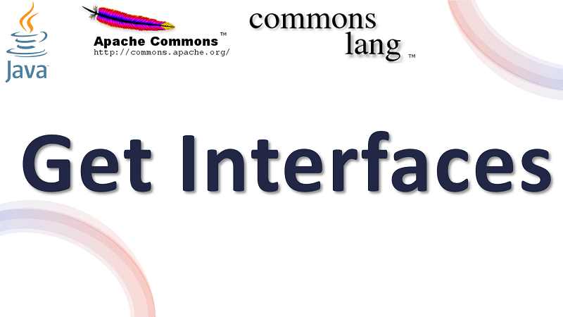 Java Get All Interfaces of a Class using Apache Commons Lang