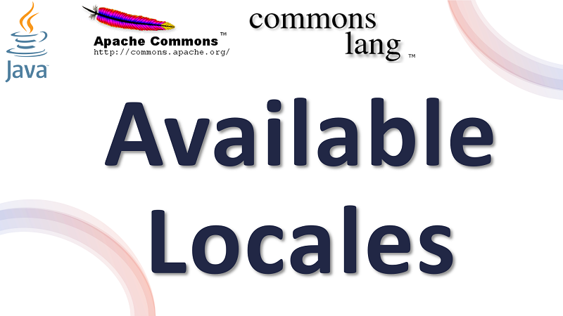 Java Get All Locales using Apache Commons Lang