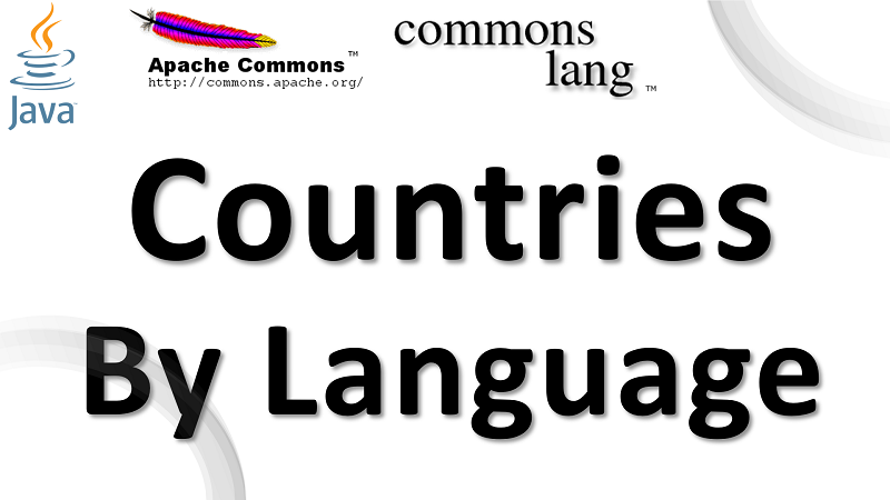 Java Get Countries by Language Code using Apache Commons Lang