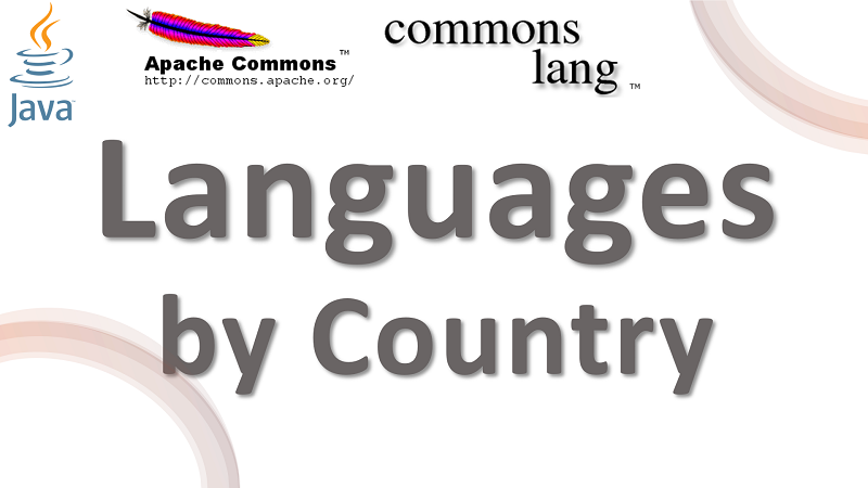 Java Get Languages by Country Code using Apache Commons Lang