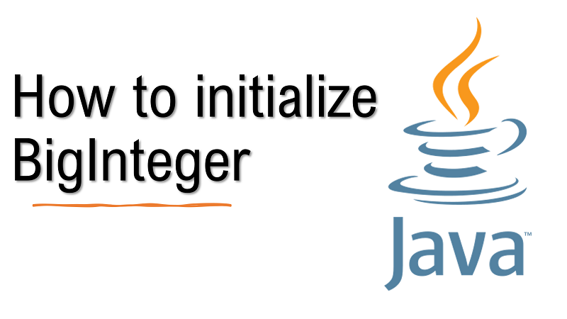 Java initialize BigInteger value