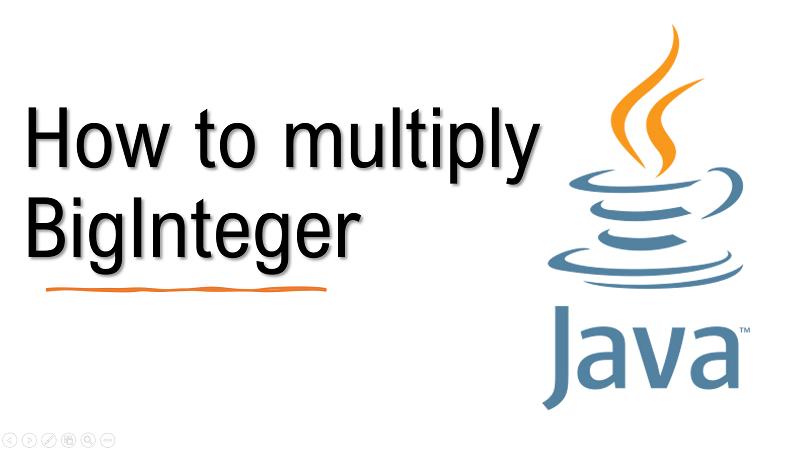 Java multiply BigInteger