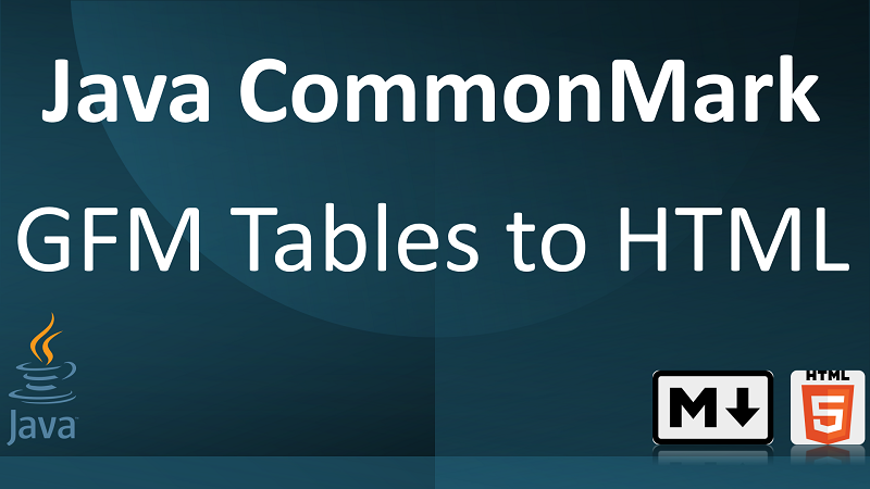 Parse Markdown Tables to HTML in Java with CommonMark GFM Tables Extension