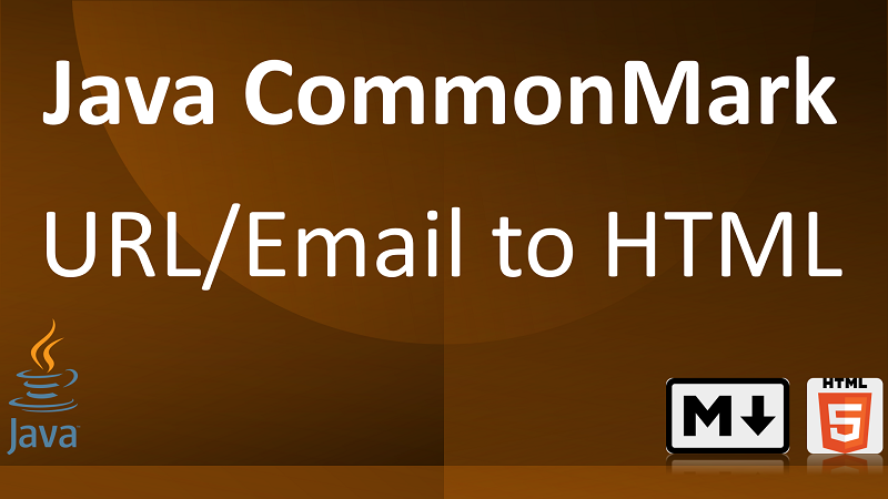 Parse Markdown URLs and email addresses to HTML links in Java with CommonMark Autolink Extension