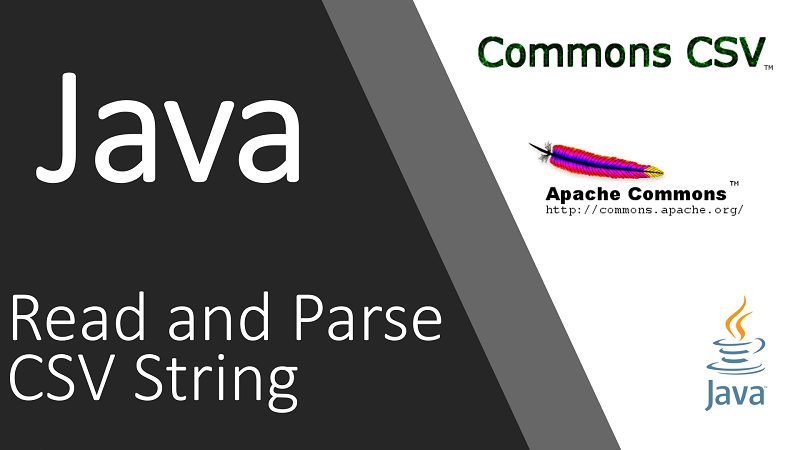 Read and Parse CSV Content from a String in Java using Apache Commons CSV