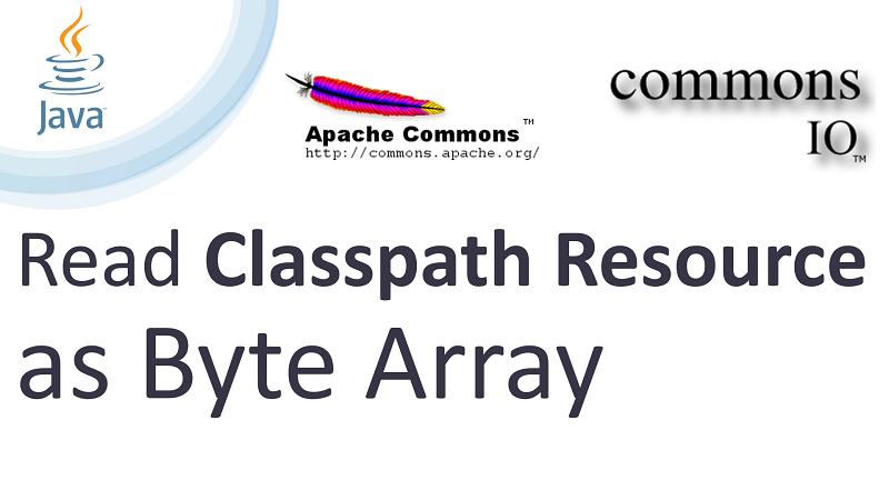 Java Read Classpath Resource as Byte Array using Apache Commons IO