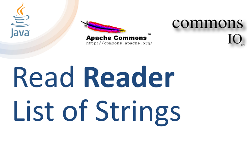 Java Read List of Strings of Reader using Apache Commons IO