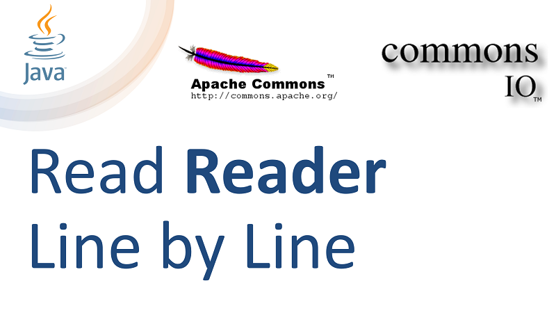 Java Read Reader Line by Line with LineIterator using Apache Commons IO