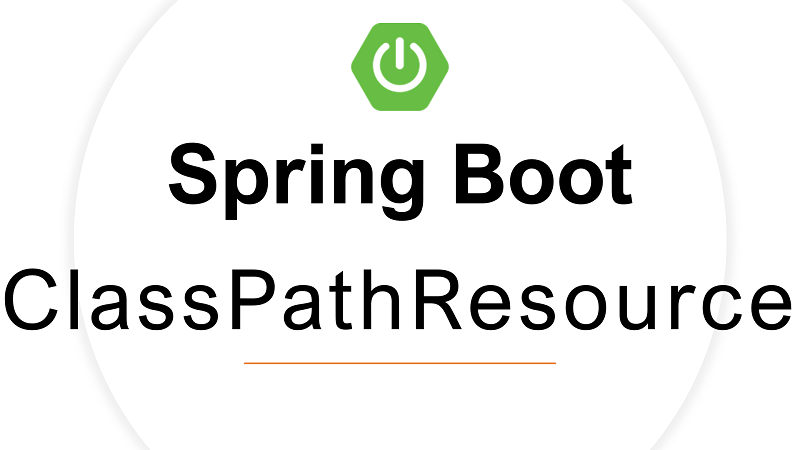Spring Boot Read File from resources using ClassPathResource