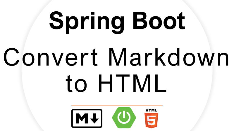 Spring Boot Convert Markdown to HTML using CommonMark