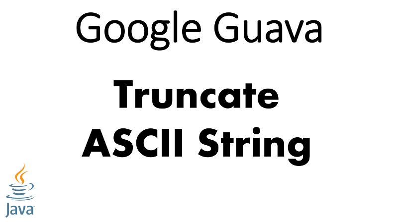 Java Truncate ASCII String using Google Guava