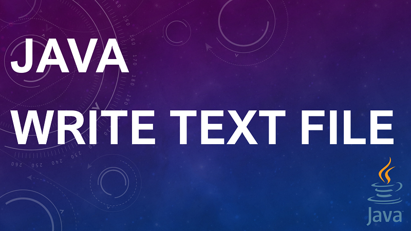 Write Text to a File in Java