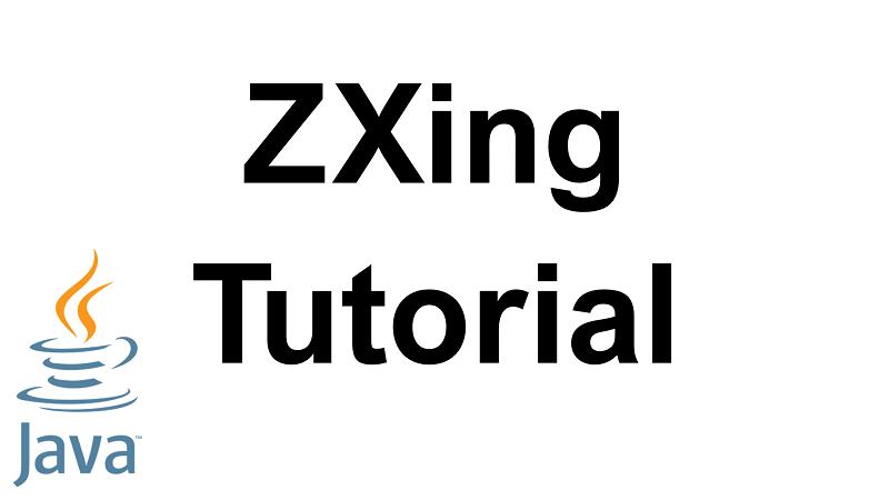 Java ZXing Tutorial