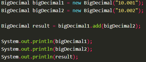 Adding two BigDecimal values