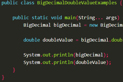Convert BigDecimal value into double value