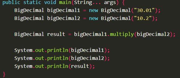 Multiply two BigDecimal values