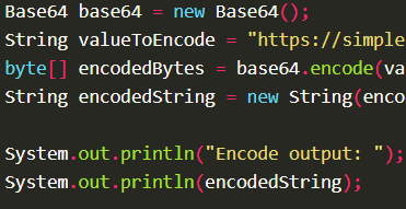 Encode byte array into Base64 format using Base64.encode() with Apache Commons Codec